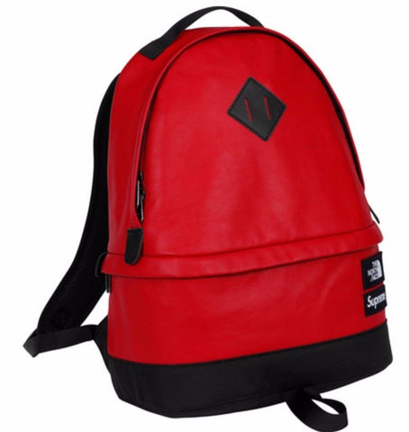 Supreme North Face Leather Day pack - Red