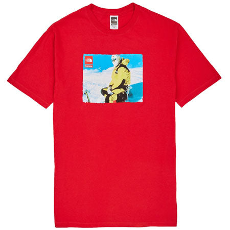 supreme - supreme the north face photo tee- red – streetwear official