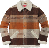 Supreme Plaid Shearling Bomber