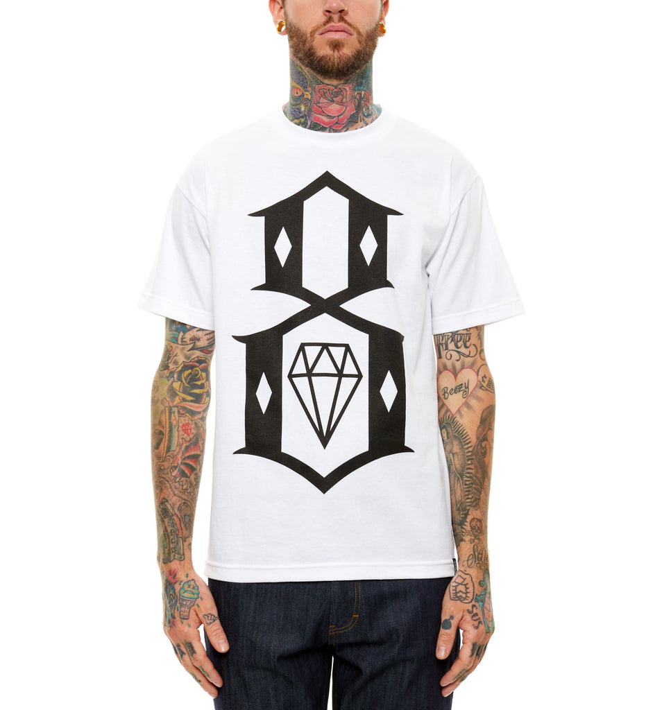 Rebel8 White Logo Tee