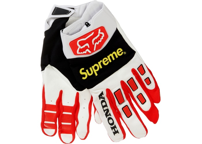 Supreme Honda Fox Racing Gloves- Red