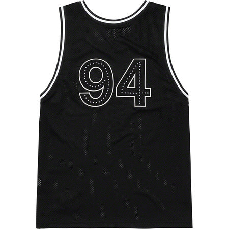 Supreme Rhinestone Basketball Jersey- Black