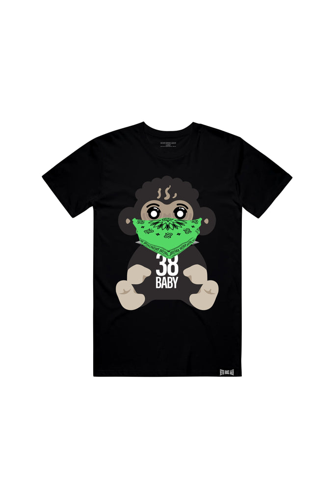 4KT Green Bandana T-Shirt - Black