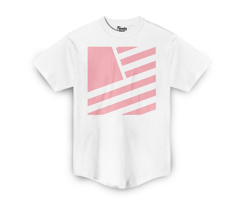 SQUARE FLAG SCOOP TEE (white/pink)
