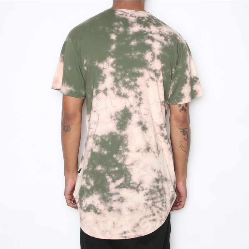 Crystal Wash Scallop Tee - Olive Green