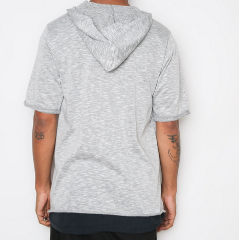 Terry Cloth Hooded Tee - Gray