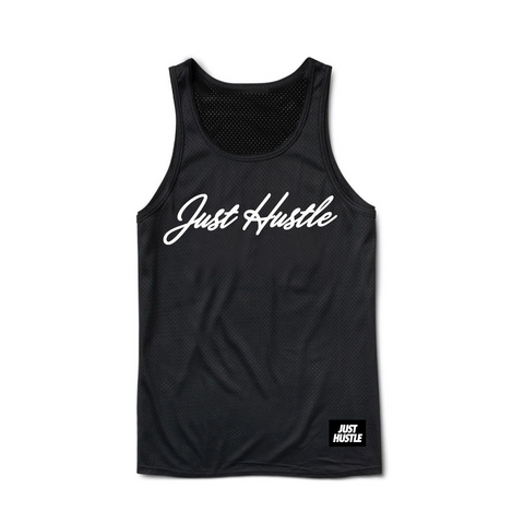 Just Hustle Jersey Tank (black)