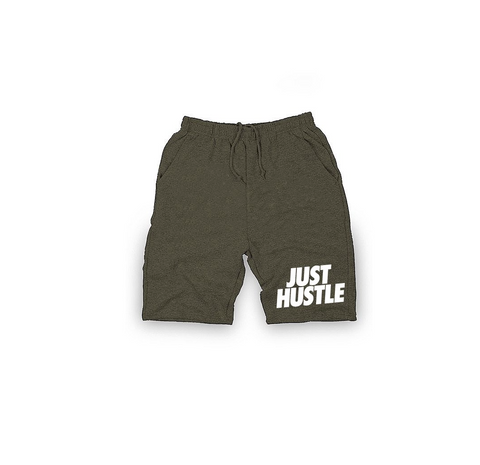 Just Hustle Shorts - OLIVE