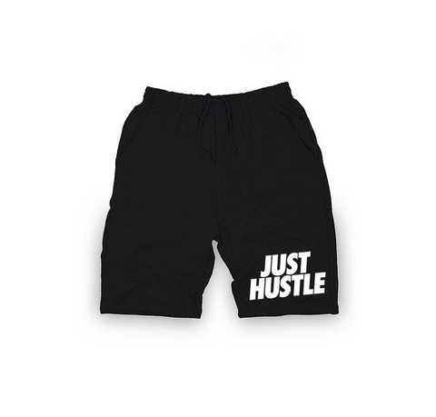 Just Hustle Shorts - BLACK