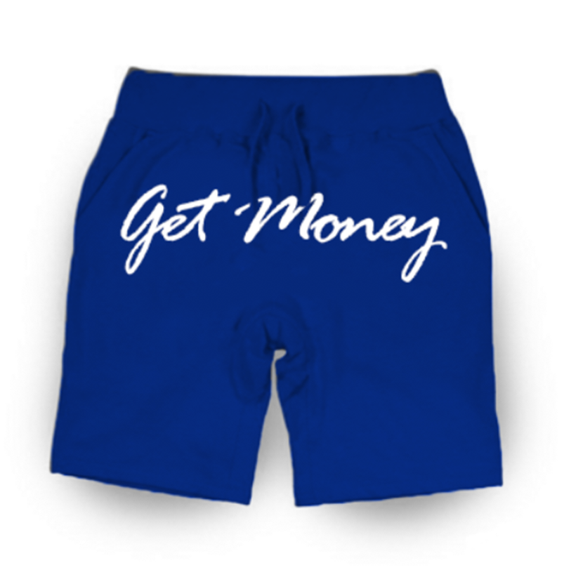 Get Money Script Shorts - ROYAL BLUE