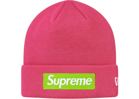 Supreme New Era Box Logo Beanie (FW17)- Magenta