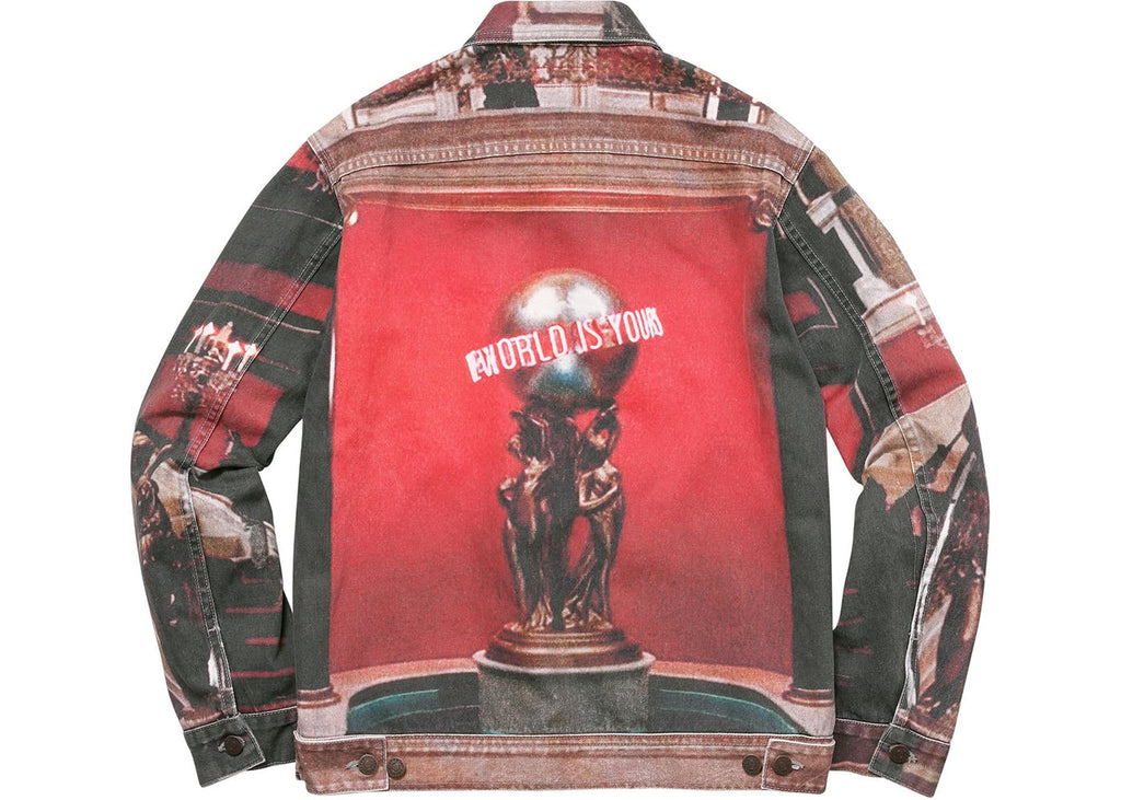 Supreme Scarface The World Is Yours Denim Jacket