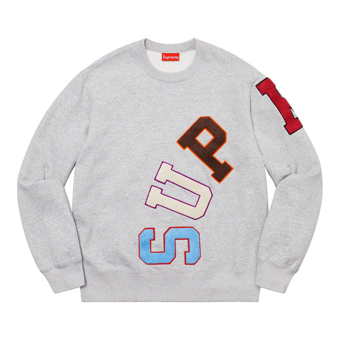 Supreme Big Arc Crewneck- Heather Grey