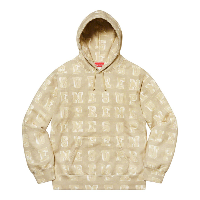Supreme Blocks Hooded Sweatshirt- Tan