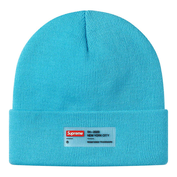 Supreme Clear Label Beanie- Cyan Blue