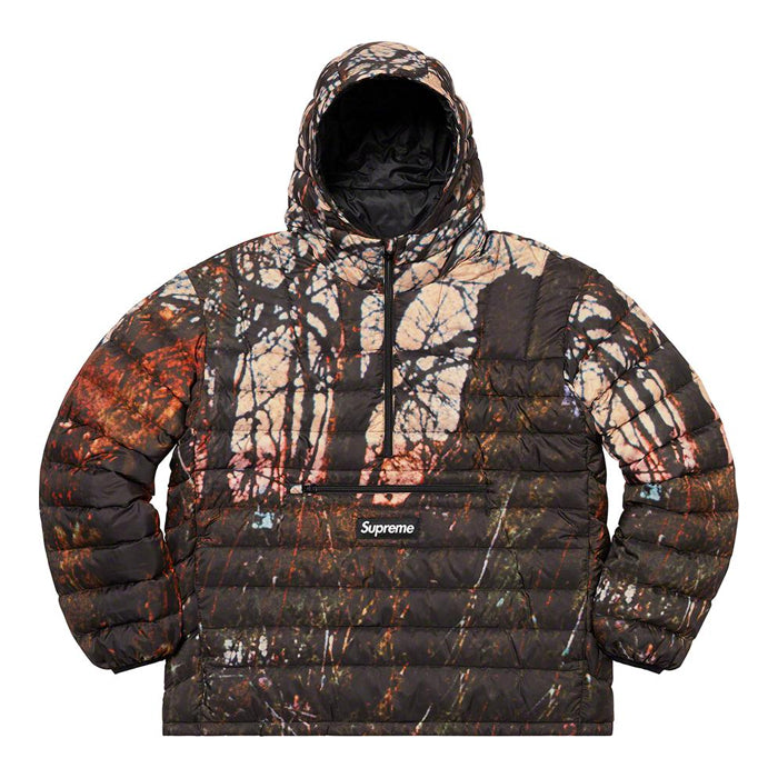 Supreme Micro Down Half Zip Hooded Pullover- Woods