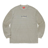 Supreme Micro Stripe L/S Top- Natural