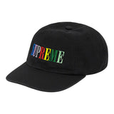 Supreme Multi Color Logo 6-Panel- Black