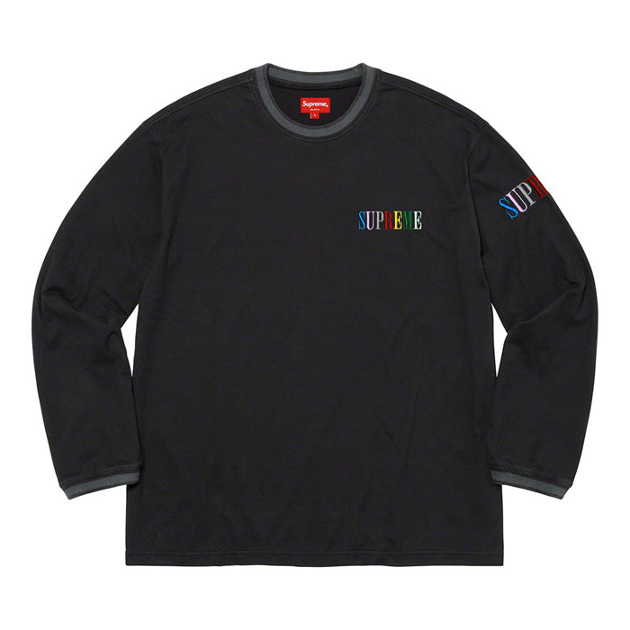 Supreme Multi Color Logo L/S Top- Black