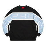 Supreme Paneled Crewneck- Black