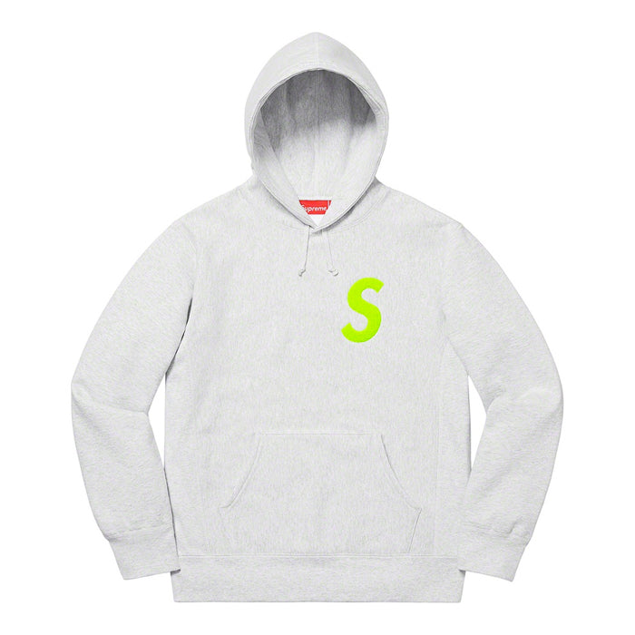 Supreme S Logo Hooded Sweatshirt (FW19)- Ash Grey