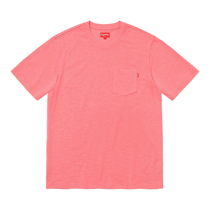Supreme S/S Pocket Tee (FW20)- Heather Coral