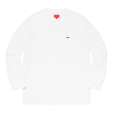 Supreme Small Box L/S Tee- White