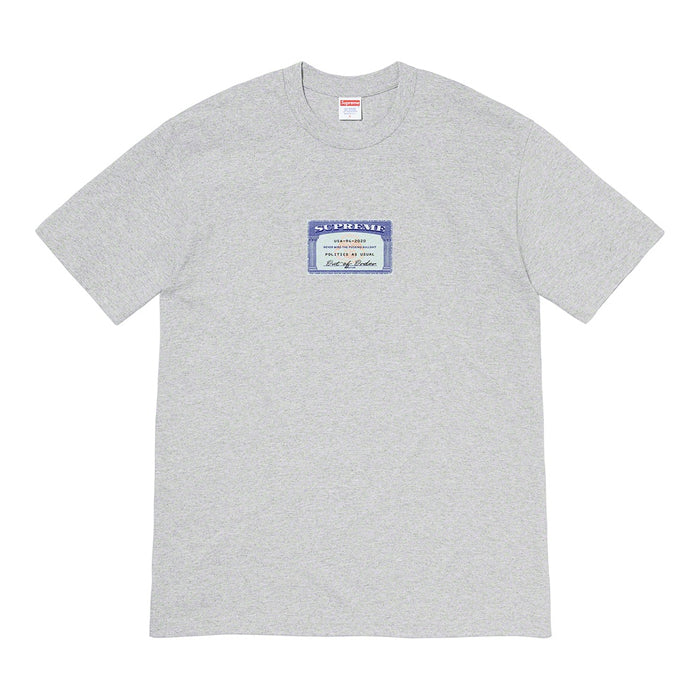 Supreme Social Tee- Heather Grey