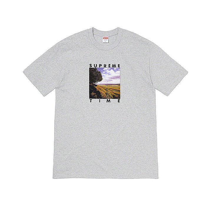 Supreme Time Tee- Heather Grey