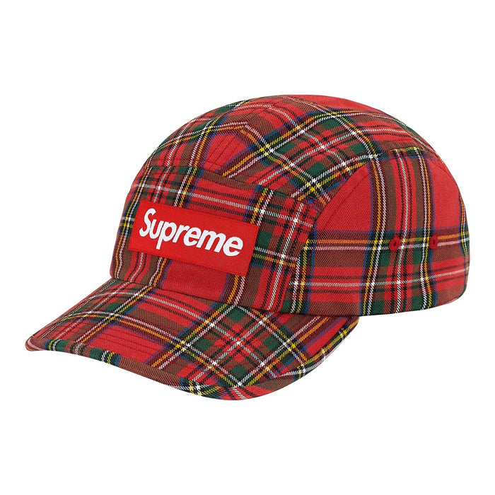 Supreme Washed Chino Twill Camp Cap (FW20)- Red Tartan