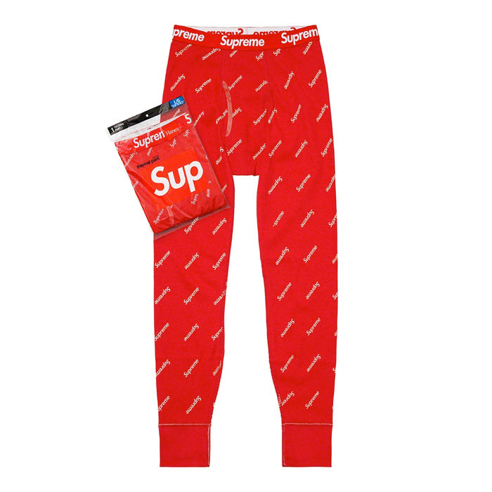 Supreme®/Hanes® Thermal Pant (1 Pack FW20)- Red
