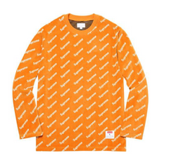 Supreme Velour Diagonal Logo L/S Top - Orange