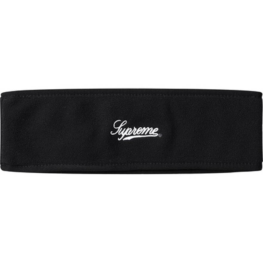 Supreme Polartec Logo Headband- Black
