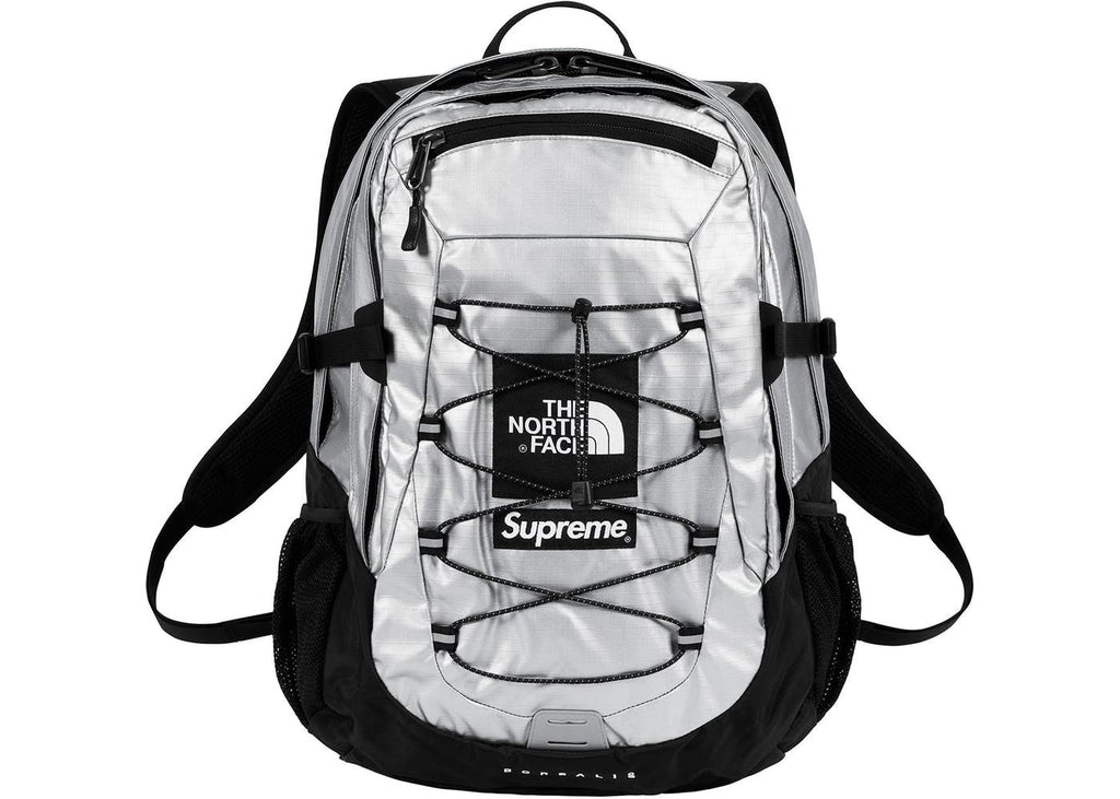 Supreme The North Face Metallic Borealis Backpack- Silver