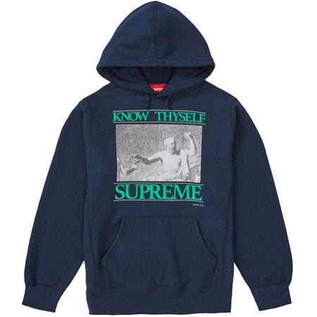 Supreme Know Thyself Hooded Sweatshirt- Navy