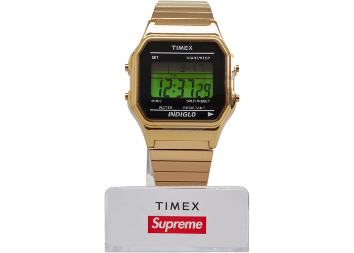 Supreme Timex Digital Watch- Gold