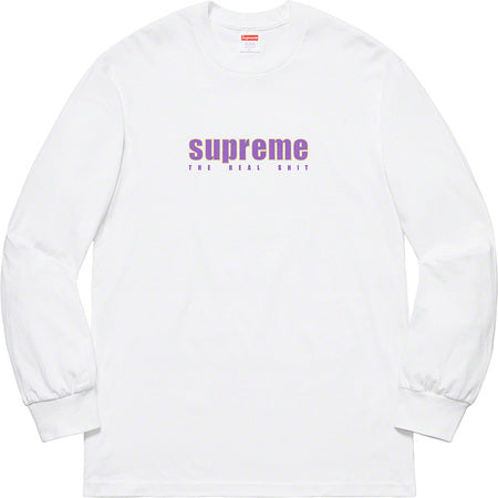 Supreme The Real Shit L/S- White
