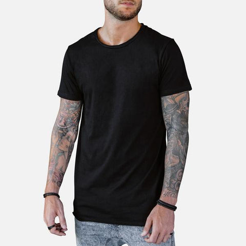 Fishtail Tee x Black