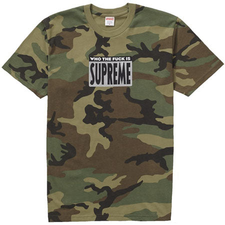 Supreme Who The Fuck Tee- Woodland Camo