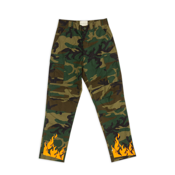 Woodland Camo Flame Pants