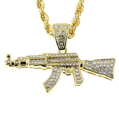 AK Medium Pendant- Gold