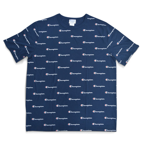 Champion Life™ Men's Graphic Heritage All Over Script Tee Navy