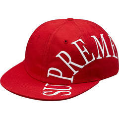 Supreme Side Arc 6-Panel Hat- Red