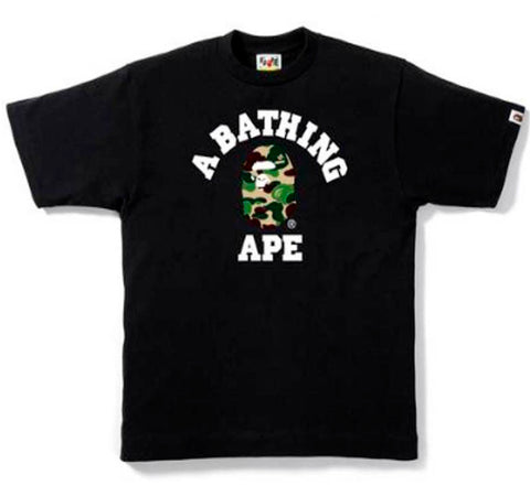 Bape ABC Camo Ape Head Tee- Black