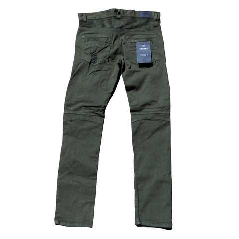Destroyed Cargo Skinny Pants (olive)