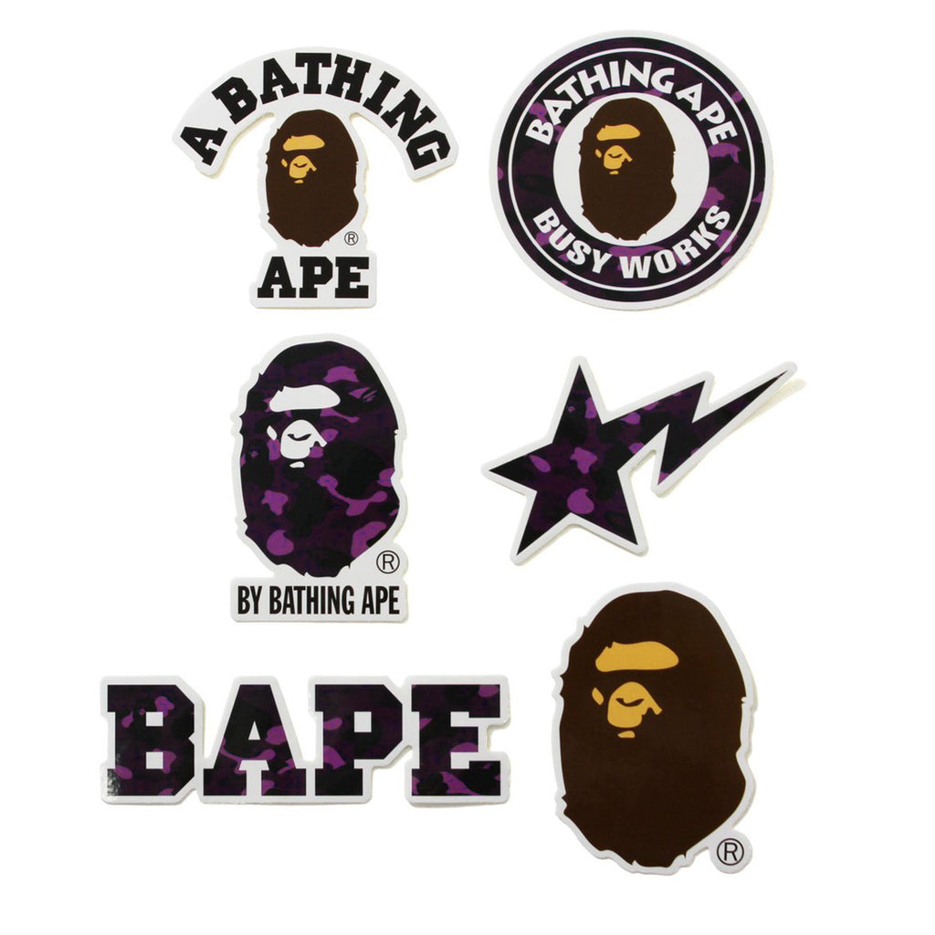 BAPE PURPLE CAMO STICKERS