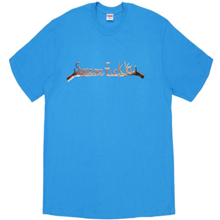 Supreme Fuck You Tee- Bright Blue