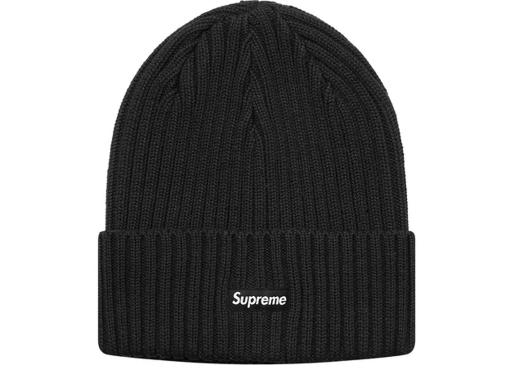 Supreme Overdyed Ribbed Beanie (SS18)- Washed Black