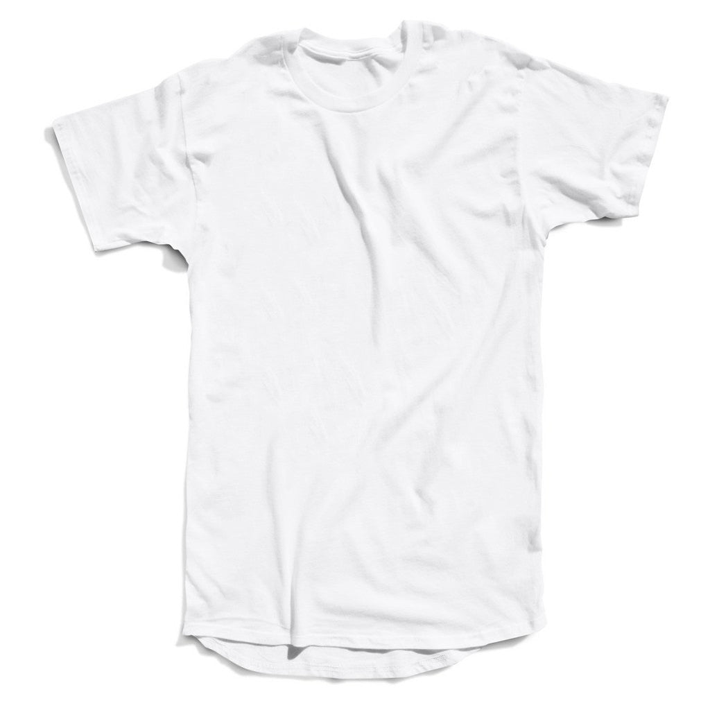 Elongated Scoop-Back Tee (White)