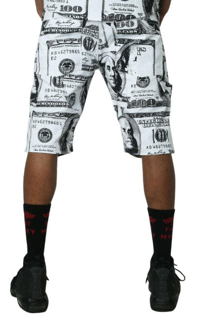 Benjamin's Carpenter Shorts- White/Black
